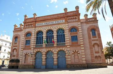 Wall Murals Theater Gran Teatro Falla, carnavales de Cádiz, Andalucía, España
