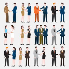 Business Peoples acting in workplace - Vector Illustration, Graphic Design Editable For Your Design.