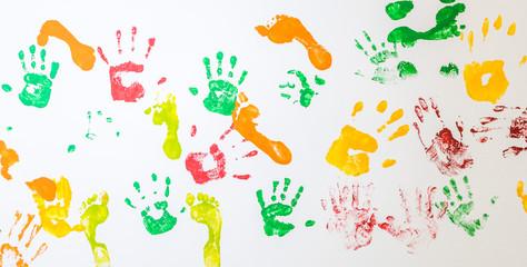 Hand-und Fußabdrücke