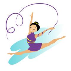 Sports Women Art Gymnastics Workout Exercise Performance