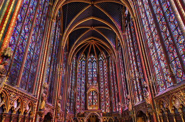 Stained Glass Cathedral Sainte Chapelle Paris France