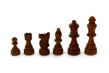 Schachfiguren schwarz