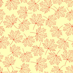 Wall Mural - pattern maple leaves variant 4