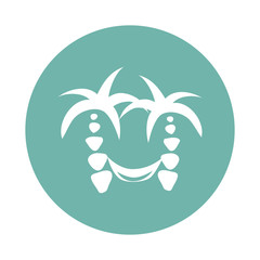 Hammock and palm trees icon