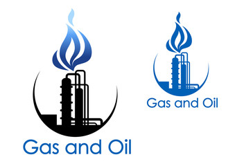 Gas and oil industry symbol