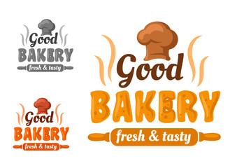 Fresh and tasty bakery emblem