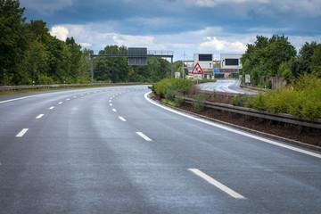 Fahrstreifen Leer Autobahn