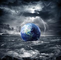 Obraz Ziemia podczas burzy - apokalipsa w USA - fototapety do salonu