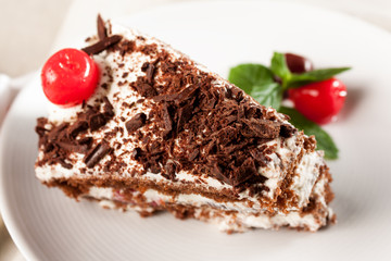 Fetta di torta foresta nera
