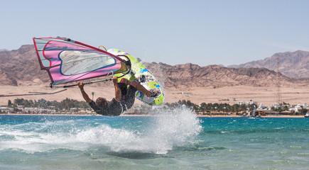 Playing windsurf
