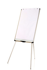 Flip chart standing on the floor
