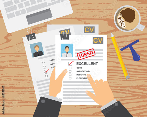 job interview cv infographics background and elements can be used