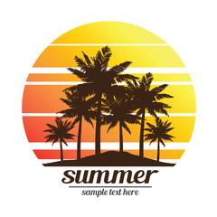 summer vacation blackground, vector illustration