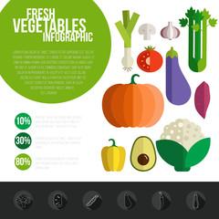 Fresh Vegetables Infographic