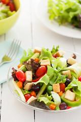 fresh vegetable salad for health