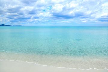 Beach. Picturesque coast of the Tyrrhenian Sea, Sardinia, Italy.