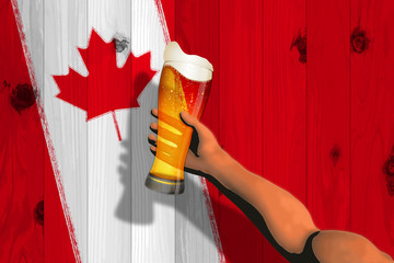 Canada Day (board and flag and beer)