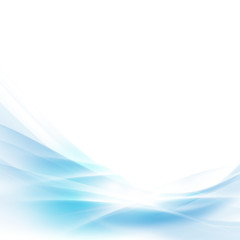 abstract spread blue wave background, vector illustration
