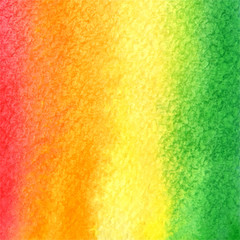 vector watercolor background in pink, orange, yellow and green c