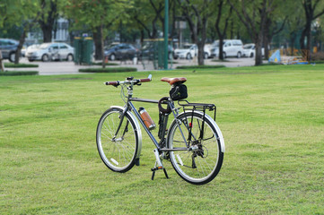 Touring Bicycle on lawn