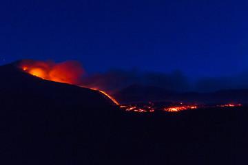 Night Eruption of Etna volcano's May 16, 2015