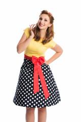 Rockabilly Mädel im Kleid