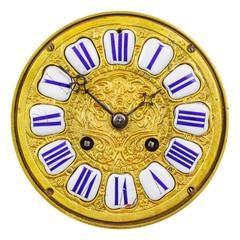Ancient ornamental golden clock face