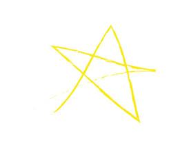 Kinderzeichnung Stern