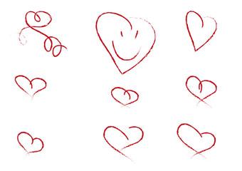 Kinderzeichnung Herzsammlung
