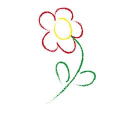 Kinderzeichnung Blume