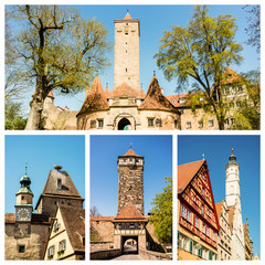 Rothenburg ob der Tauber Collage
