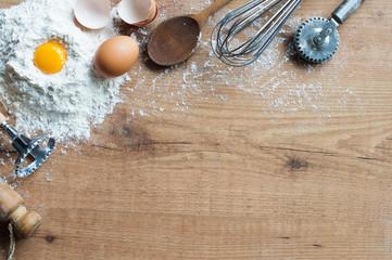 Baking ingredients Wall mural