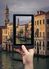 Take a picture in Venice city in Italy