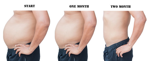 body man before and after fat  loss