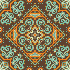 Abstract vector ethnic background seamless pattern