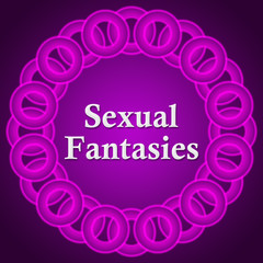 Sexual Fantasies Text Inside Pink Rings