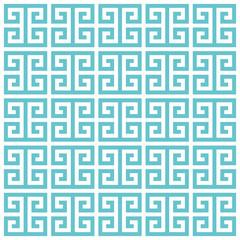 Greek key pattern background. Vector background bleu green