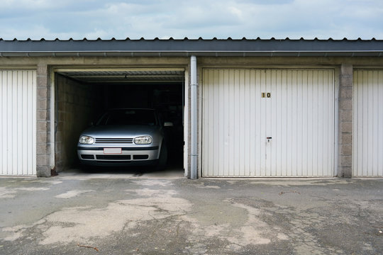 One-car garages a storage and parking facility