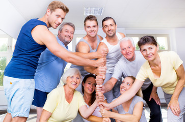 Sportgruppe Hände
