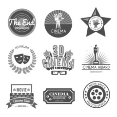 Cinema labels collection black