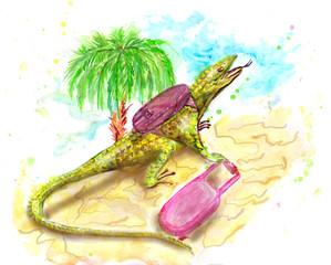 lizard tourist
