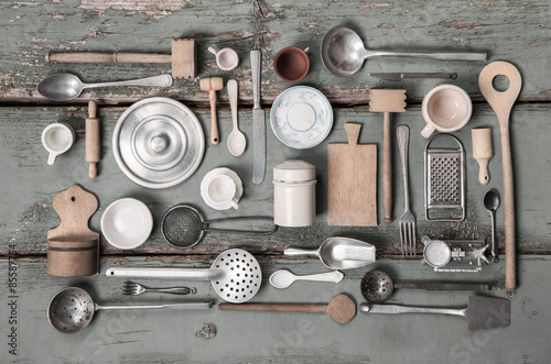 Rustikale Dekoration alte miniaturen küchen utensilien als rustikale dekoration zum