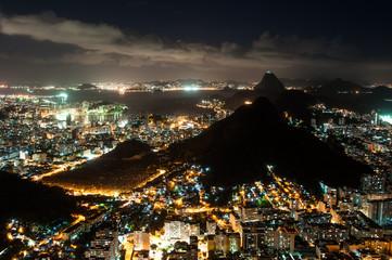 Rio de Janeiro City Night View