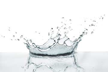 water splashing on calm surface