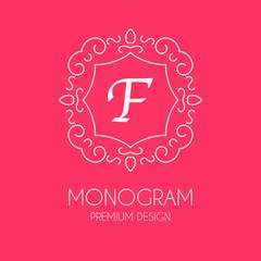 Simple monogram design template, vector illustration. stock vector.