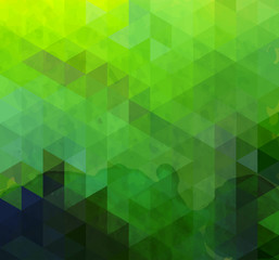 Abstract triangle green background