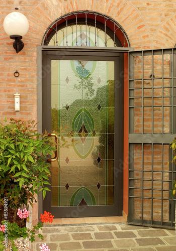 Porta con vetro colorato Stock photo and royalty-free images on ...