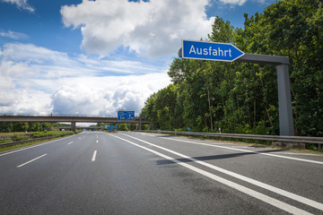 Ausfahrt Leere Autobahn
