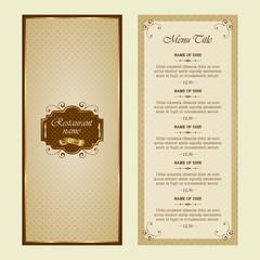 Menu for restaurant - vector set