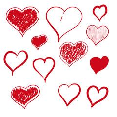 Vector illustration heart hand drawn.